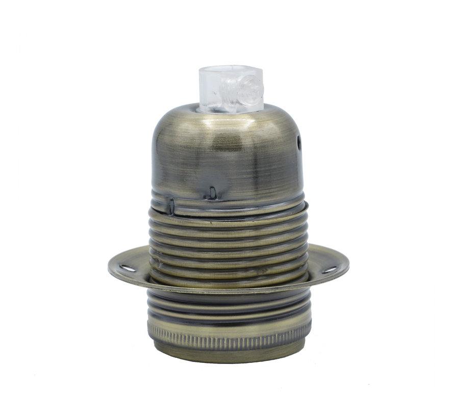 Fitting 'Olan' met schroefdraad - metaal Antiek Brons - E27