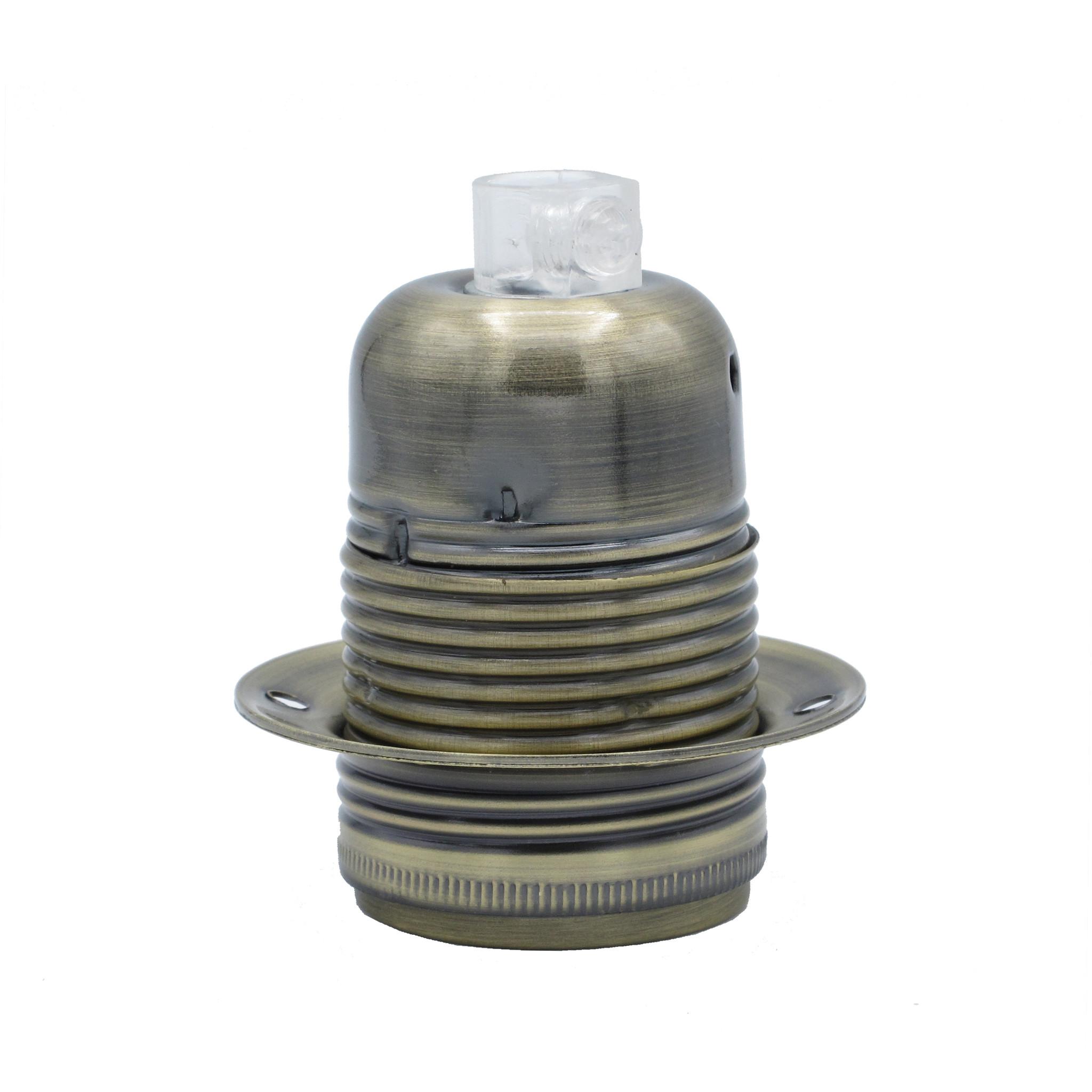 Lampenfassung E27 Metallfassung Aussengewinde Nickel Silber Vintage Retro Antik