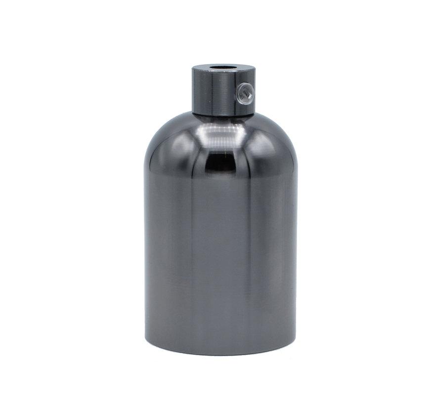 Metal Lamp Holder 'Elin' dark grey E27