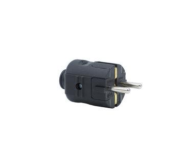 Kynda Light Stecker Kunststoff Schwarz rund | 3-polig