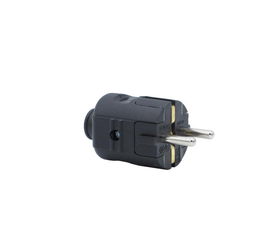 Stecker Kunststoff Schwarz rund | 3-polig