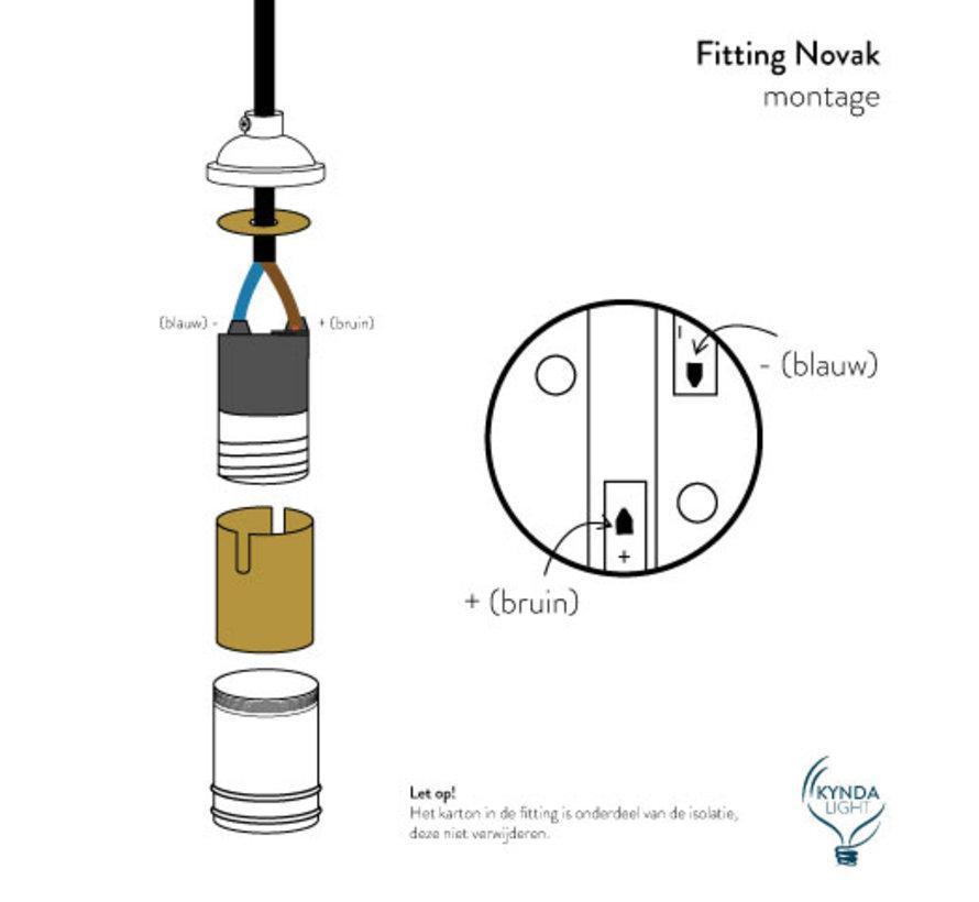 Fitting 'Novak' metaal Antiek Brons E27