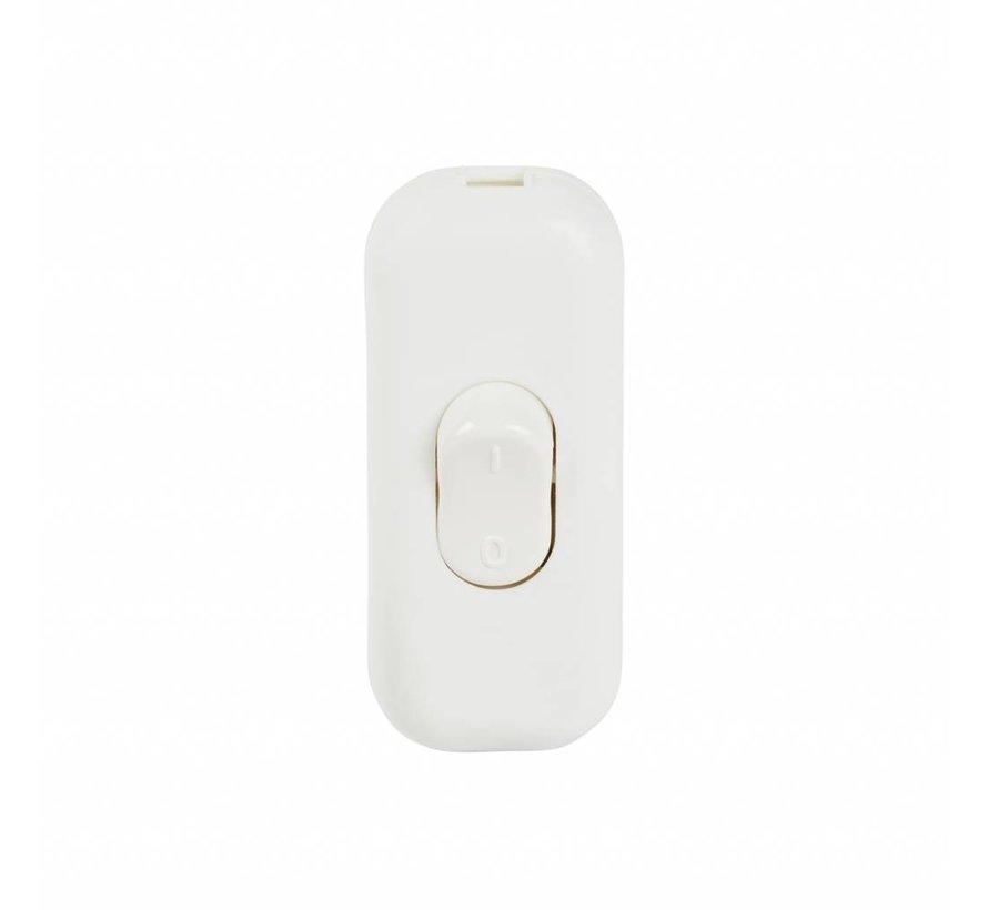 Kabelschalter Weiß | 2-polig