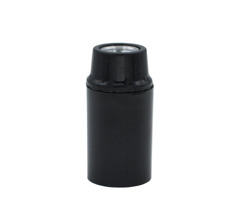 Bakelitfassung (look) mit Glattmantel | Schwarz E14