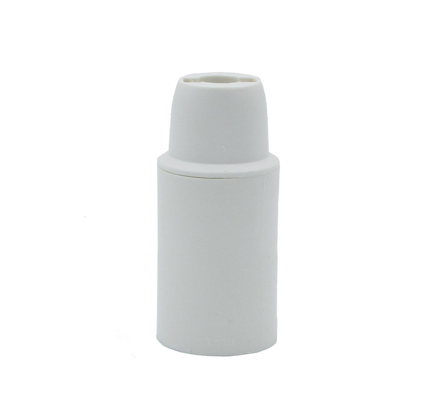 Fassung Kunststoff mit Glattmantel | Weiß E14