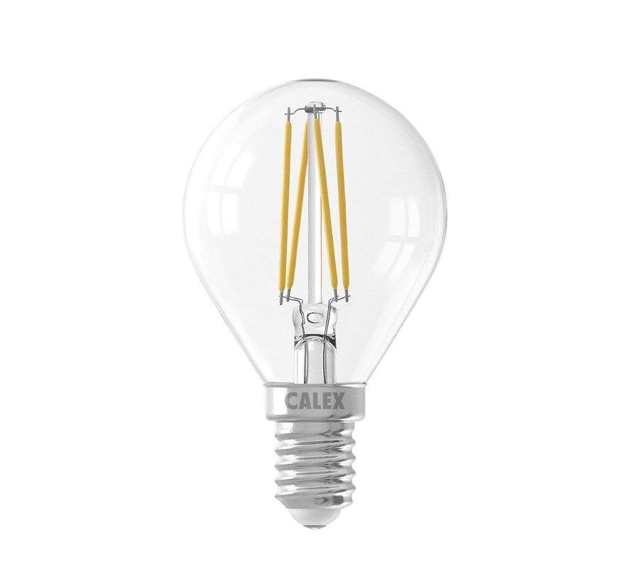 Clear Spherical LED light bulb - 3,5W E14 - 2700K - Dimmable