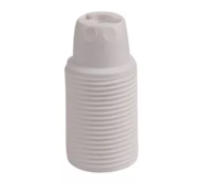 Kynda Light Plastic Lamp Holder Threaded - White (E14)
