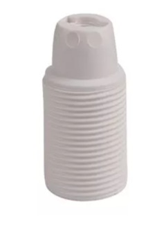 Kynda Light Plastic Lamp Holder External Threaded - White (E14)