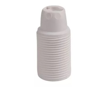 Kynda Light Plastic Lamp Holder External Threaded - White (E14)