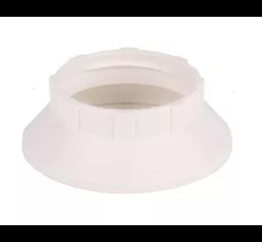 Kunststof ring E14 voor fitting met buitendraad - ⌀44mm - Wit