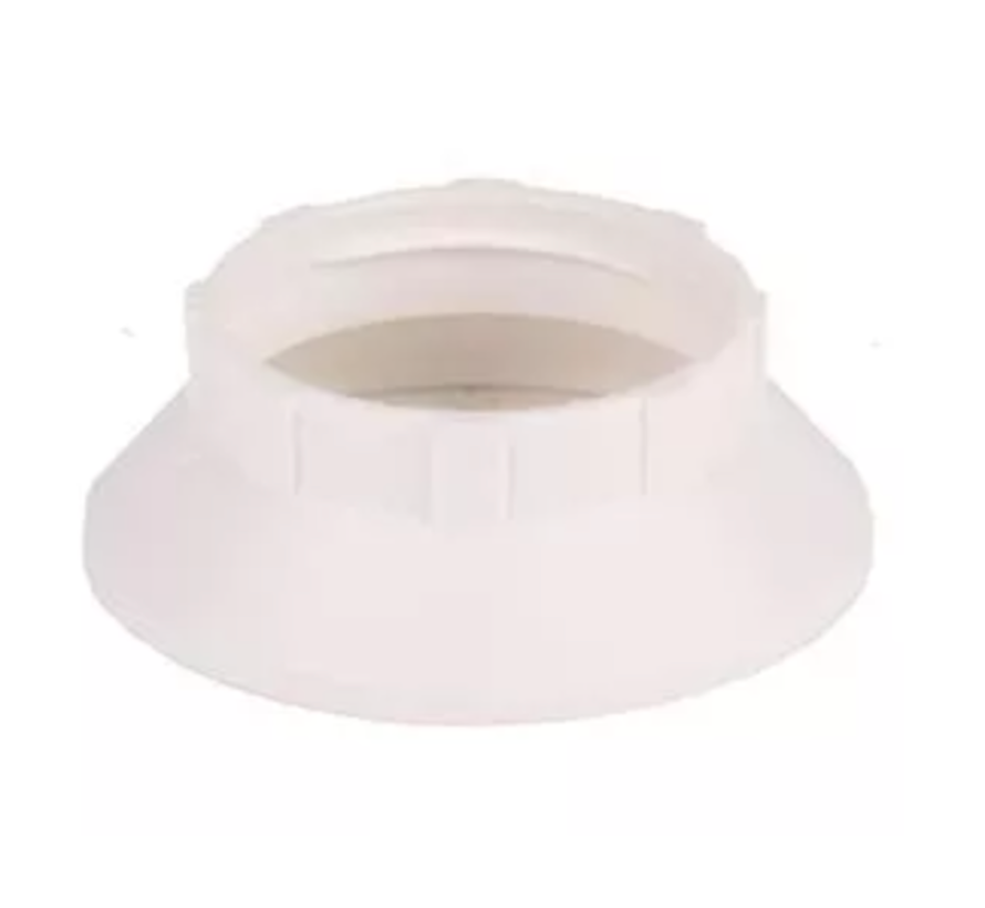 Plastic ring E14 for lamp holder with external thread - ⌀44mm - White