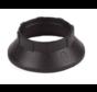 Kunststoff Schraubring / Stellring zur Montage Fassung E14 mit Außengewinde | Schwarz Ø44mm