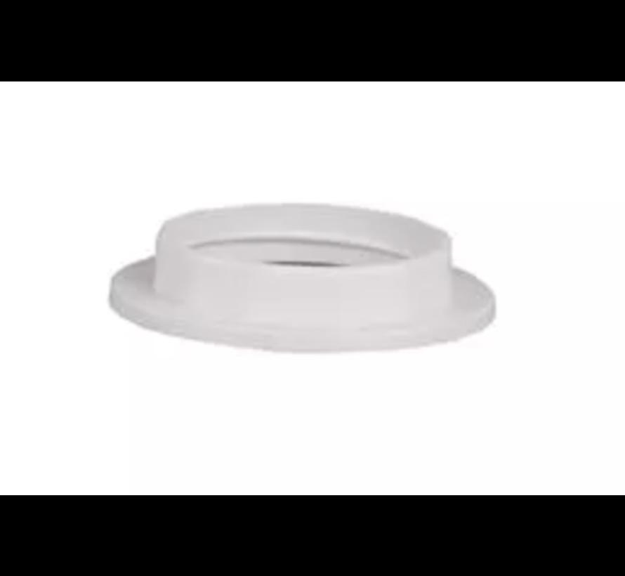 Kunststof ring E27 voor fitting met buitendraad - ⌀57mm - Wit