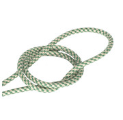 Kynda Light Fabric Cord Sand & Green - round - crossed pattern