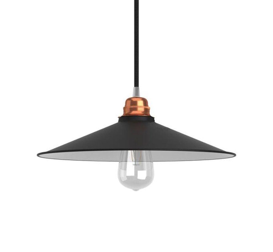 Lampenschirme  industriell 'Erikson' metall schwarz - E27