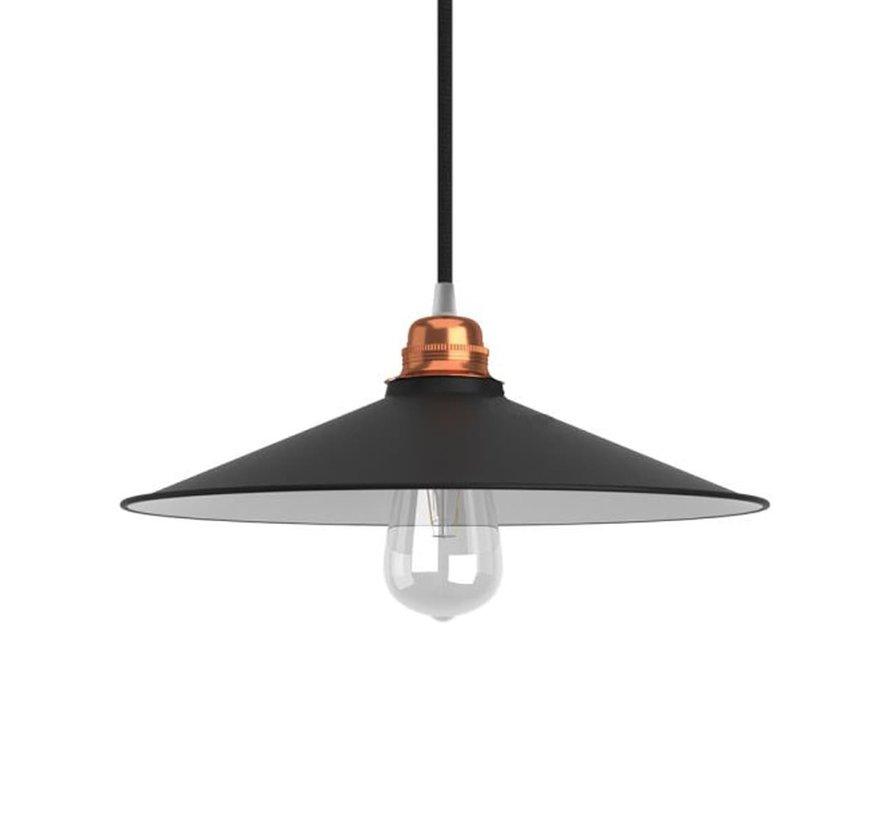 Vintage lampenkap 'Erikson' metaal Zwart