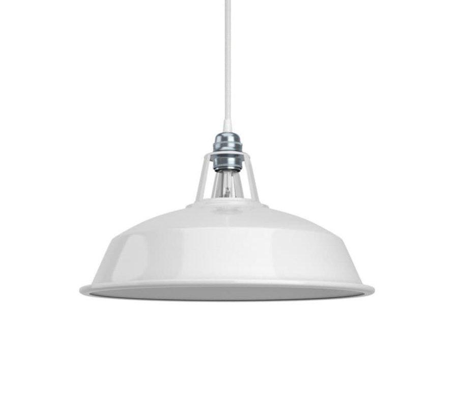 Industriële lampenkap 'Hafthor' metaal Wit - E27