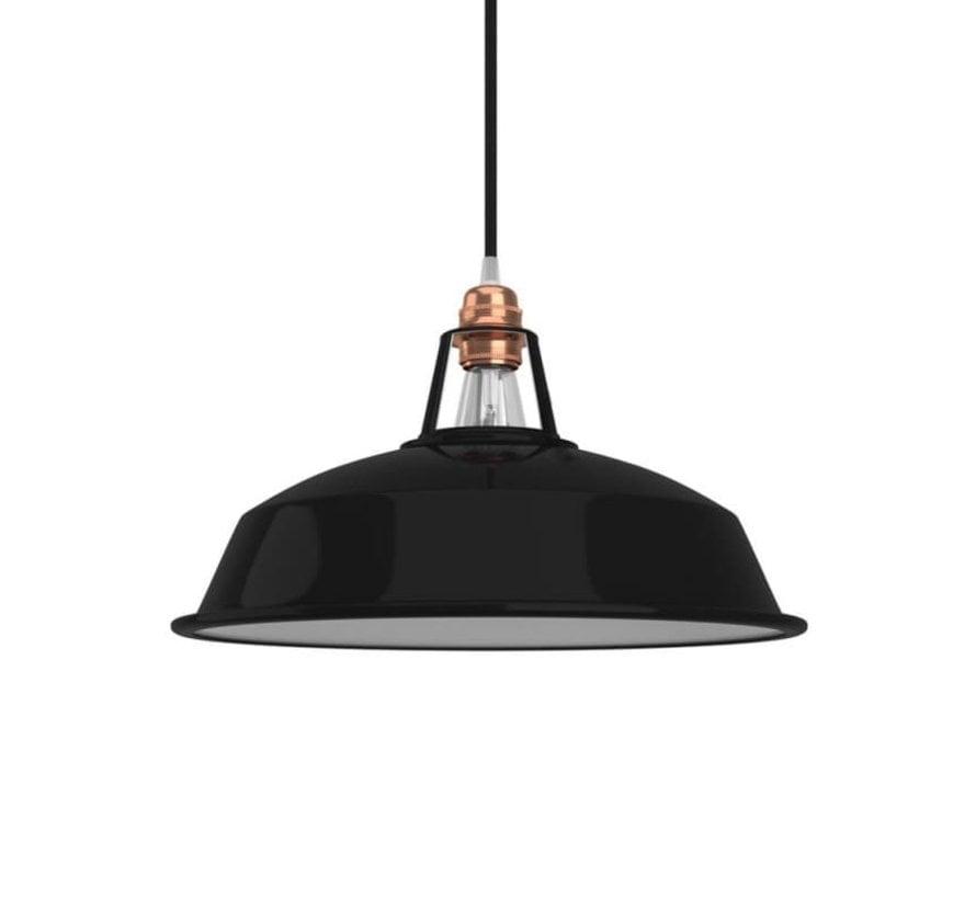 Lampenschirm industriell 'Hafthor' Metall Schwarz - E27