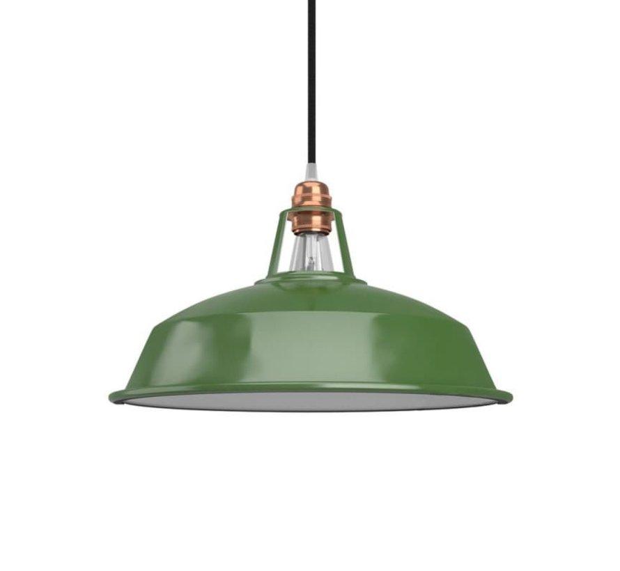 Lampenschirm  industriell 'Hafthor' Metall Grün