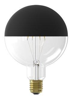 Calex LED Full Glass Filament Top Mirror Globe Lamp Black