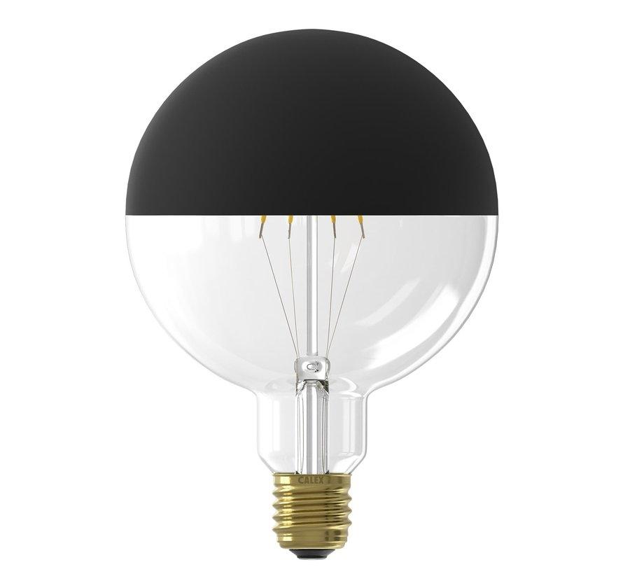 LED lamp volglas Filament Kopspiegel G125 Globelamp Zwart E27