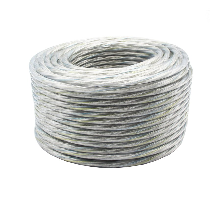 Fabric Cord PVC Transparant - round, solid