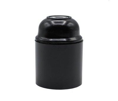 Kynda Light Bakelite Lamp Holder - Black (E27)