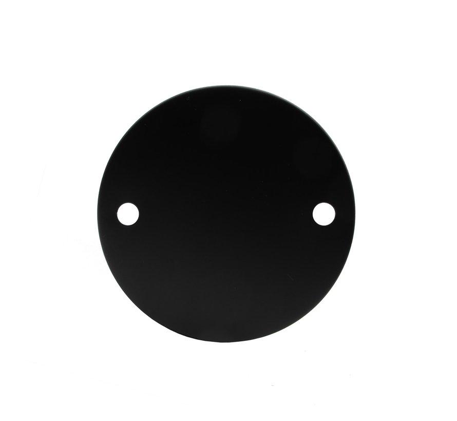 Metalen plafondkap 'Levi' zwart - 2 snoeren