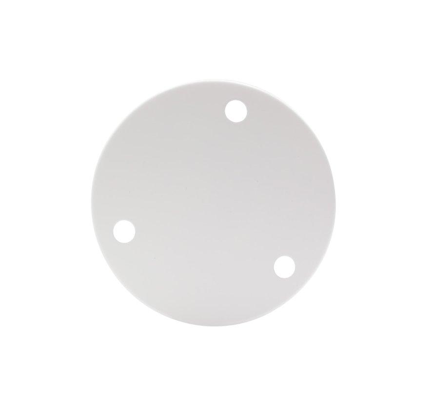 Plafondkap 'Latham' XL metaal Wit - 3 snoeren