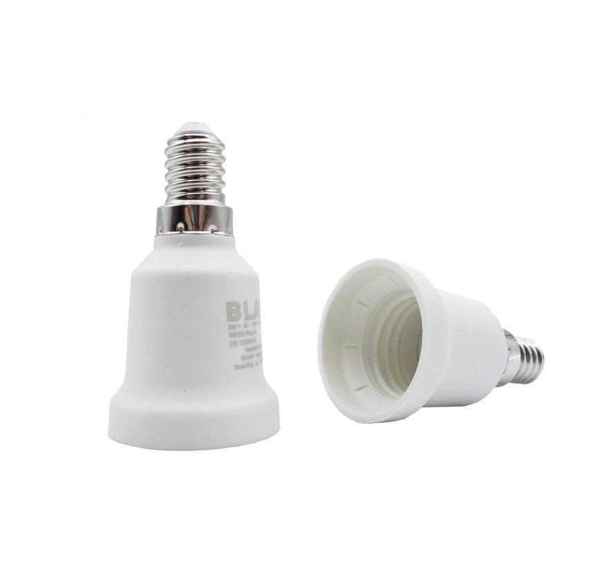 Adapter von E14 zu E27 - Kunstoff weiß
