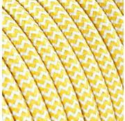 Kynda Light Strijkijzersnoer Wit & Geel - rond - zigzag patroon