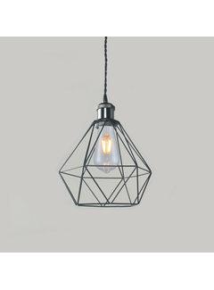 Kynda Light Lampenschirm Käfig/Draht 'Ludvig' Metall Schwarz