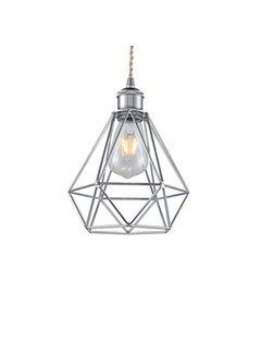 Kynda Light Lampenschirm Käfig/Draht 'Ludvig' Metall Chrom
