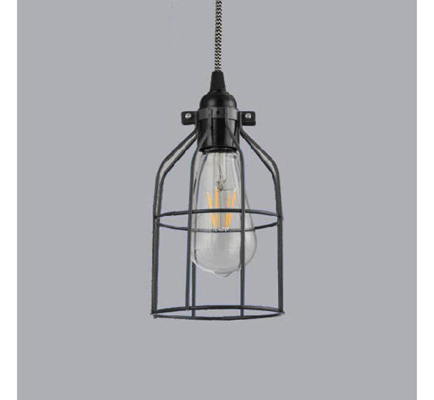 Lampenschirm Käfig/Draht 'Shad' Metall Schwarz