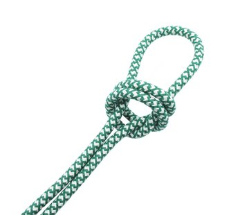 Kynda Light Strijkijzersnoer Creme & Groen - rond, linnen - kruis patroon
