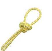 Kynda Light Fabric Cord White & Yellow - round - zigzag pattern