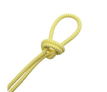 Kynda Light Textilkabel Weiß & Gelb - rund | Zick-Zack Muster
