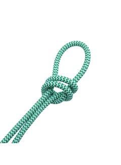 Kynda Light Fabric Cord White & Green - round - zigzag pattern