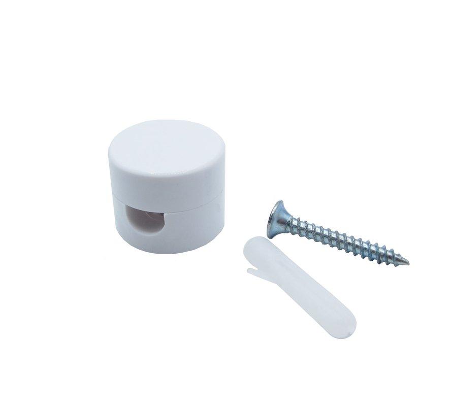 Wand- und Deckenpins / Kabelführung / Kabelhalter | Rund, weiß