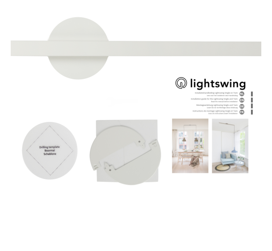Lightswing Twin Wit | Ophangsysteem 2 lampen