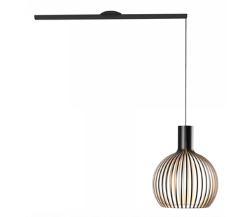 Lightswing Lightswing Single Mat Zwart | Ophangsysteem 1 lamp