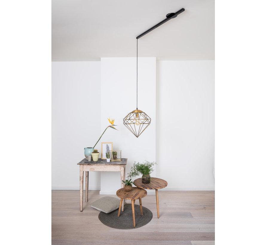Lightswing Single Mat Zwart   Ophangsysteem 1 lamp