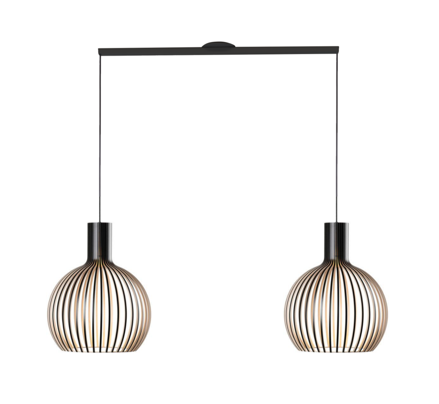 Lightswing Twin Black | Hanging system 2 lamps