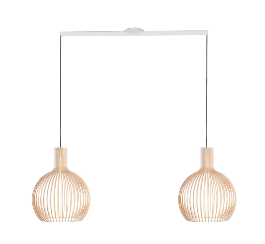 Lightswing Twin (Mat) Wit | Ophangsysteem 2 lampen