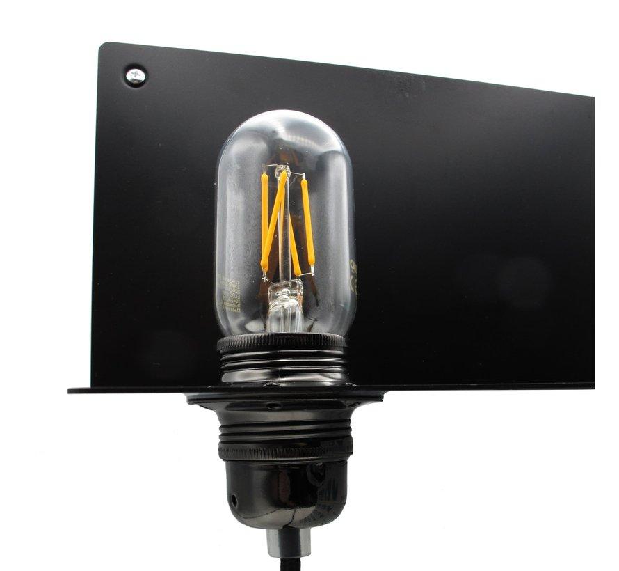 Wandlampe Metall 'Björn' | Schwarz XL
