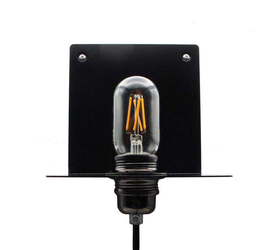 Metalen wandlamp 'Bjorn' | Zwart