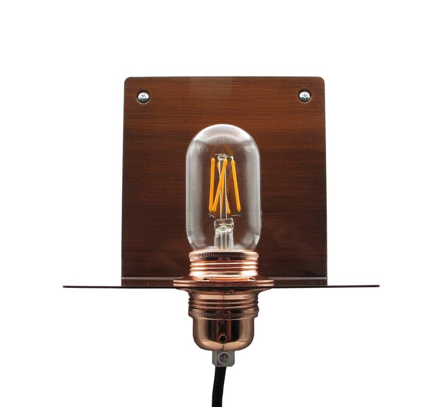Metalen wandlamp 'Bjorn'   Brons