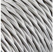 Kynda Light Strijkijzersnoer Zilver - gedraaid, effen stof