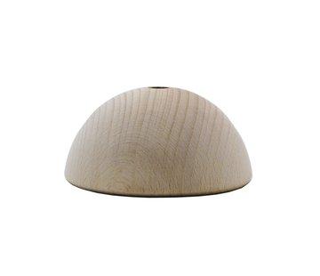 Kynda Light Plafondkap 'Woody' halfrond hout - 1 snoer