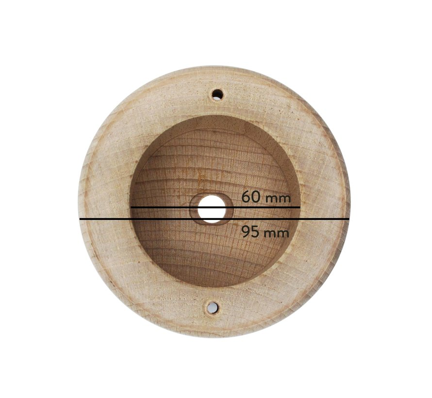 Wooden Ceiling Rose 'Woody' Spherical - 1 cord